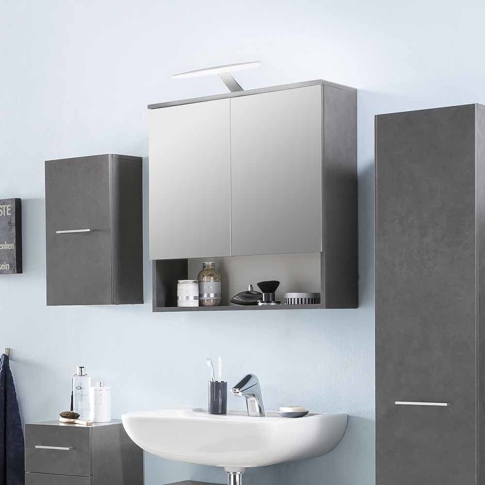 Badezimmer Spiegelschrank in Dunkelgrau 65 cm Jetzt