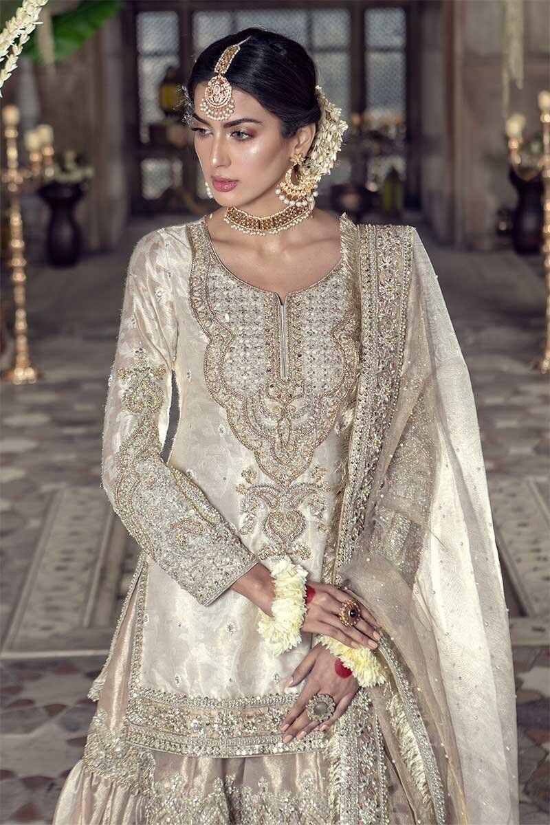 Maria B   Bridal dress fashion, Bridal dresses pakistan, Nikkah dress