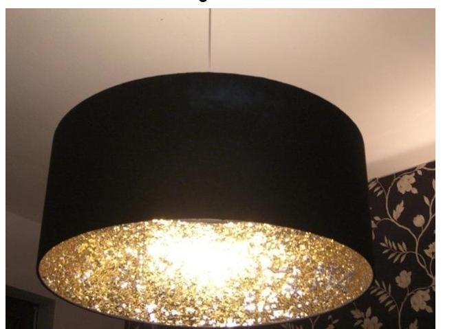 Glitter *Lampshade Fabric /& Inner lining Sample* Fabric Brushed Metallic