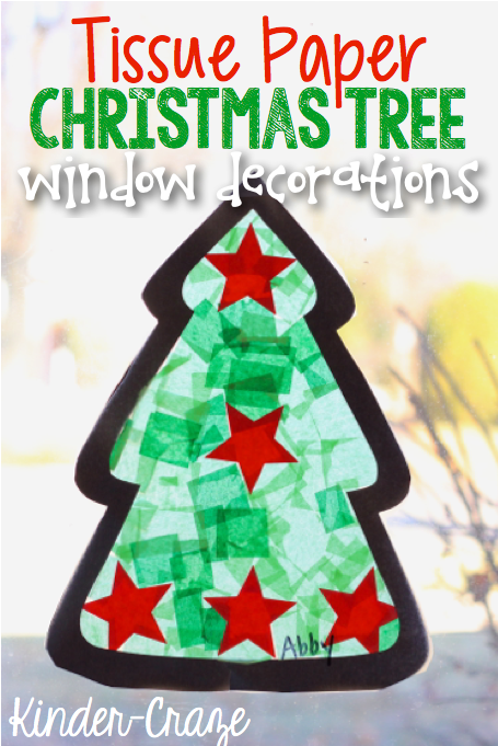 Tissue Paper Christmas Tree Window Decorations Christmas Kindergarten Preschool Christmas Christmas Tree Crafts