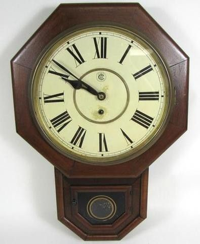 Vintage waterbury co eight day timer 12 drop oak wall clock item vintage waterbury co eight day timer 12 drop oak wall clock item description vintage waterbury aloadofball Choice Image