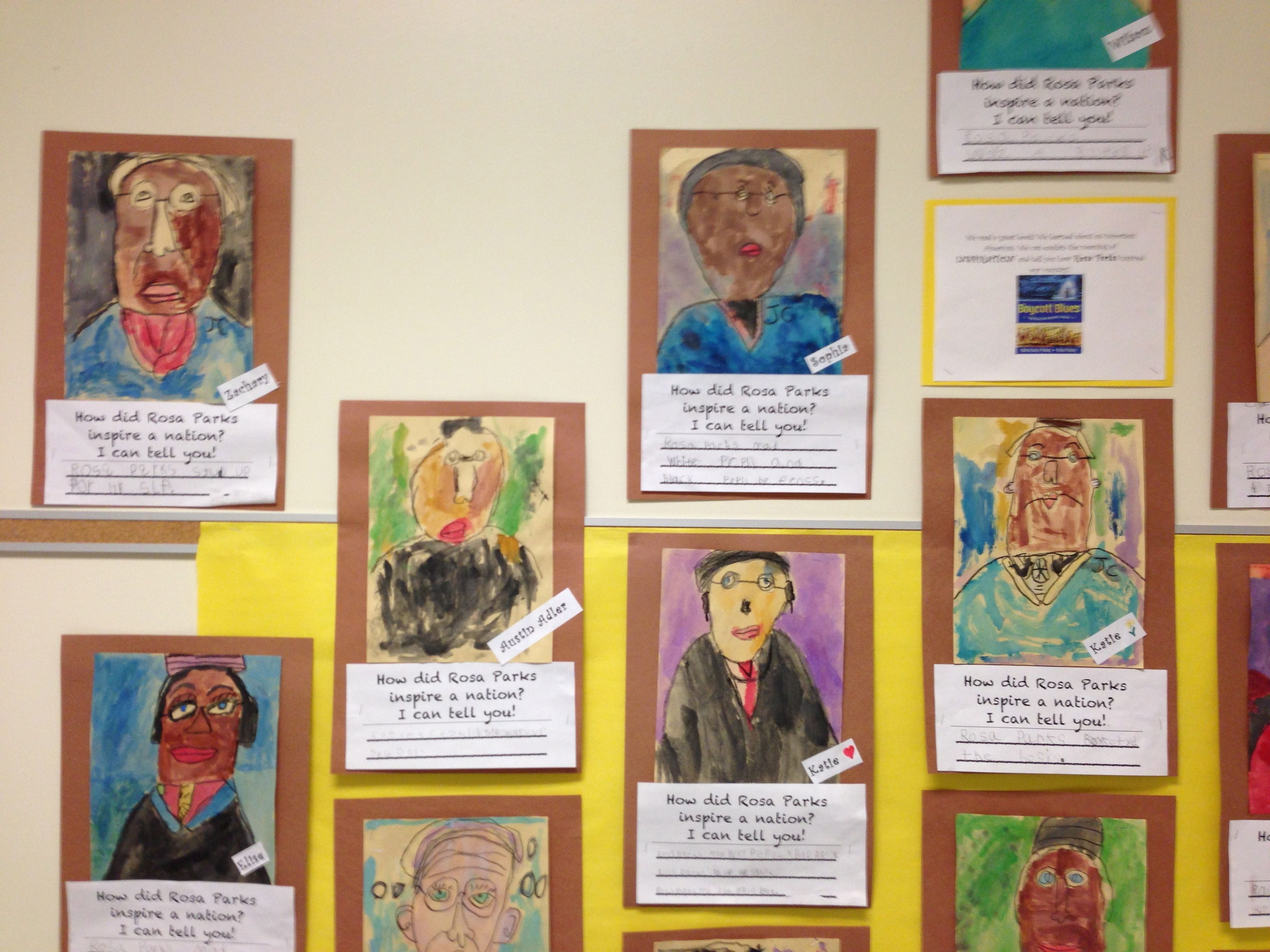 Black history month rosa parks writing and art project for Black history month craft