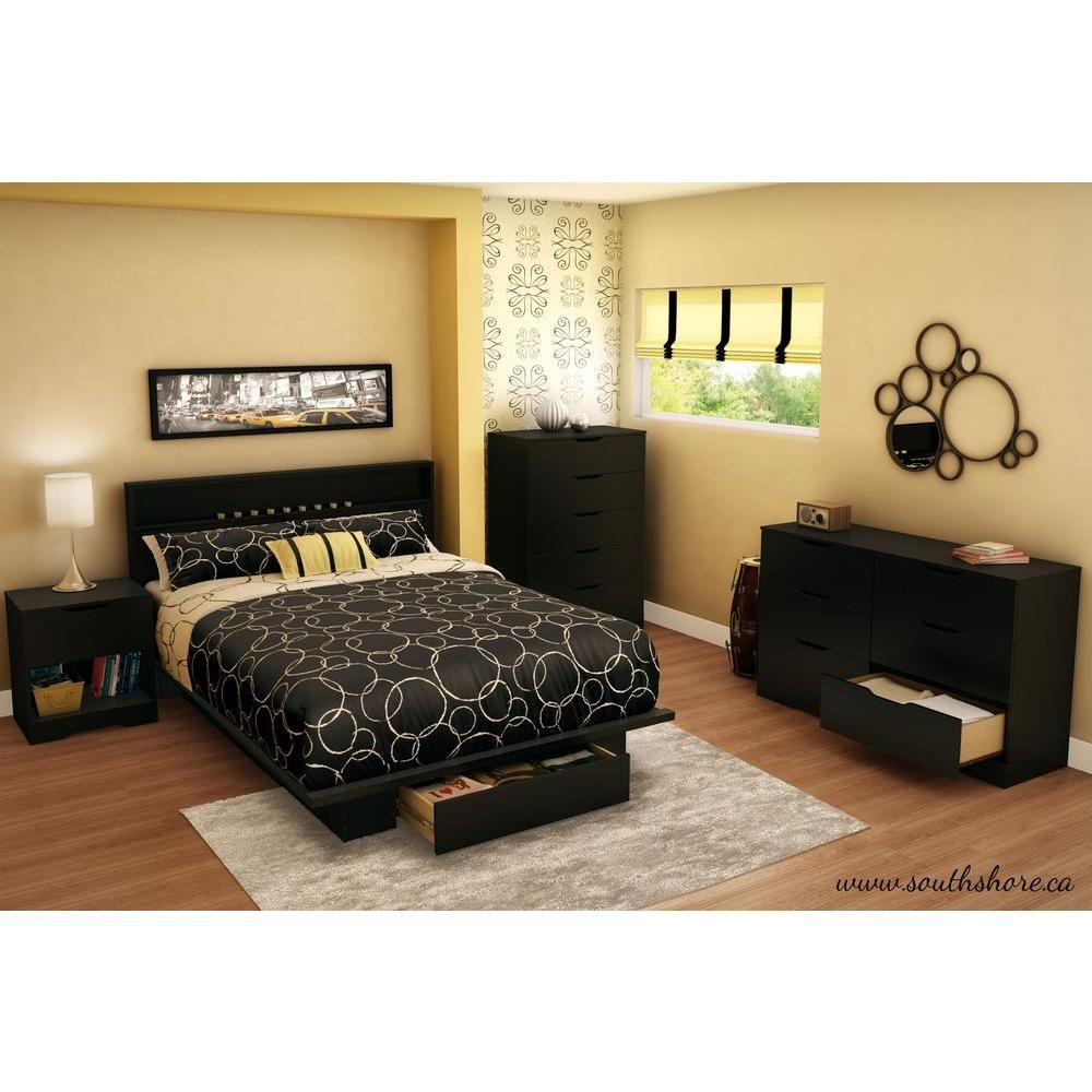 Trinity fullqueen storage bed pure black products