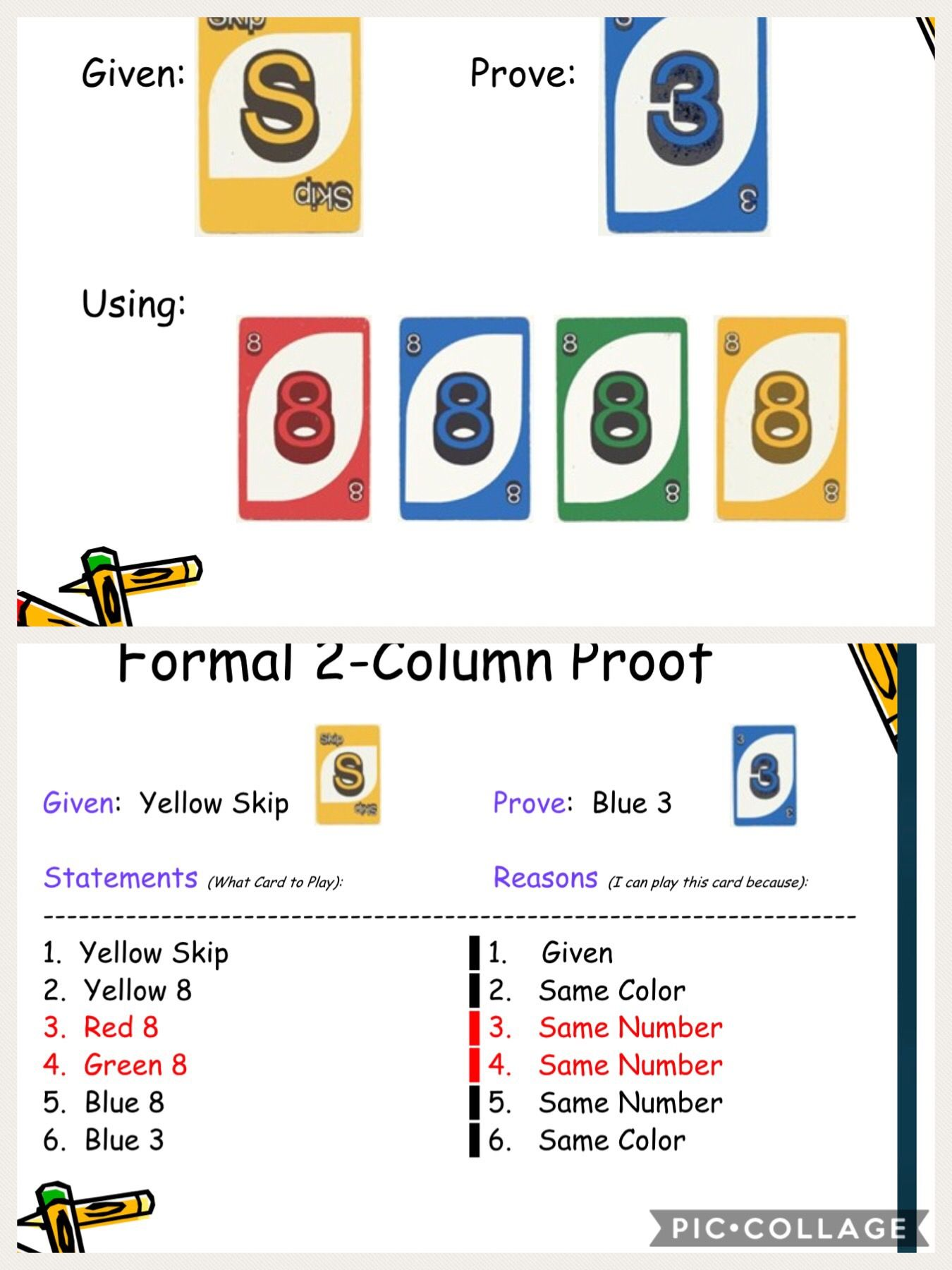 Intro To Proof Using Uno Cards Love This Idea