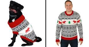 Image result for matching dog and human sweaters