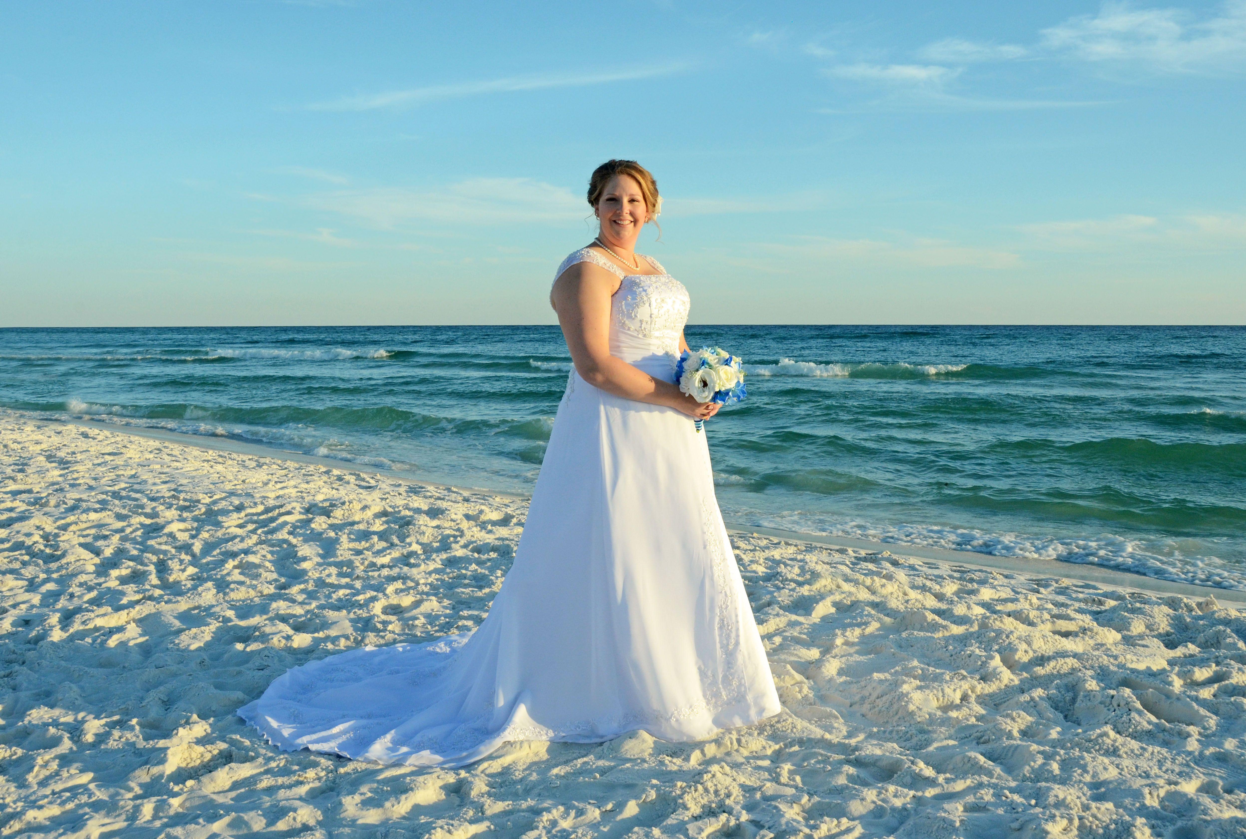Teal beach wedding  Miramar Beach Florida destination beach wedding  Beach Brides