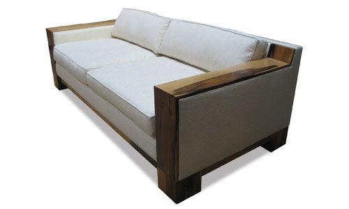 Lombardo Sofa Wood Trim