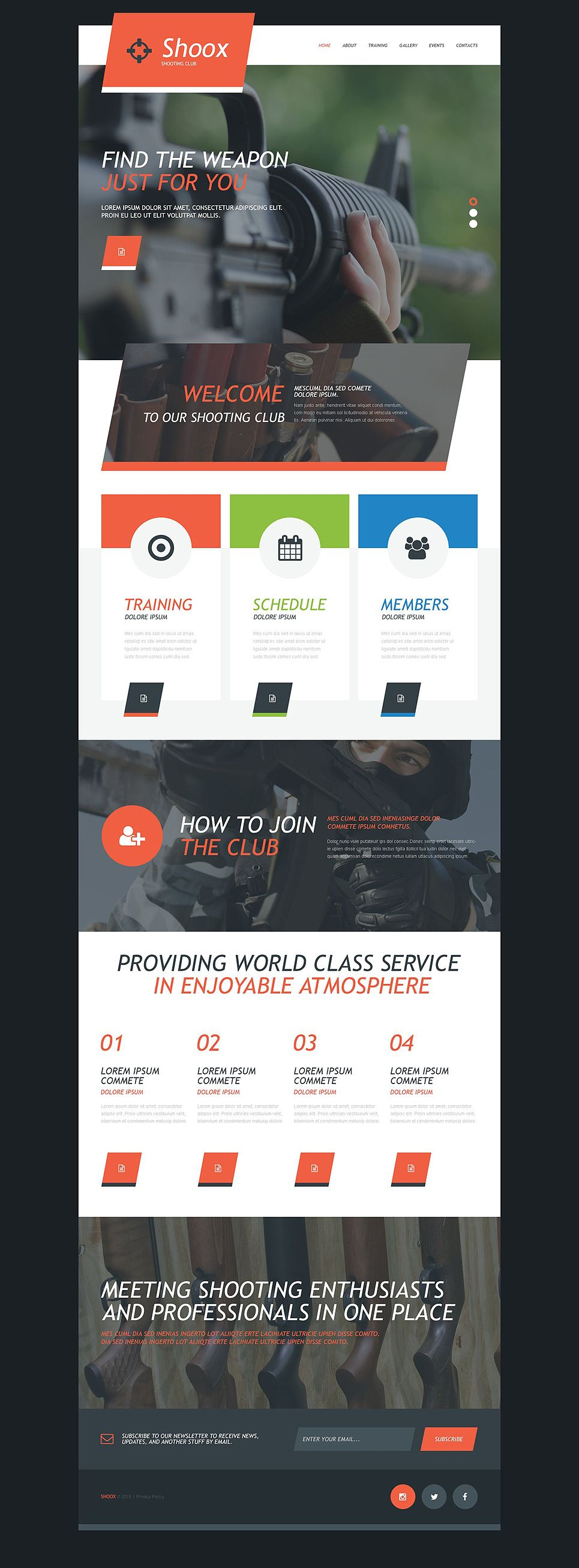 Weapons Store Muse Template   Template and Adobe