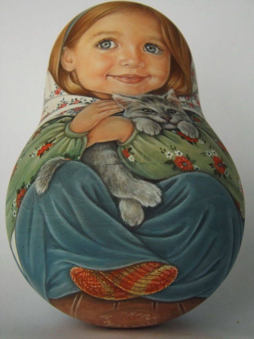 Authors 1 kind russian roly poly nesting like reborn baby