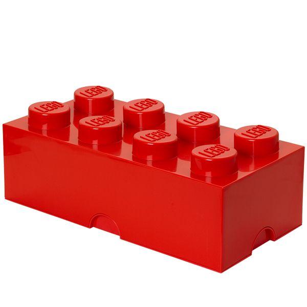 Lego s�ilytyslaatikko 8, punainen