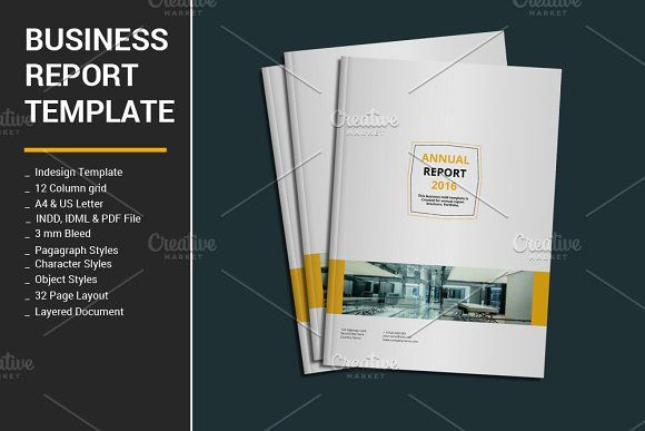 Business Report Template Creative Annualreportdesigns Brochures