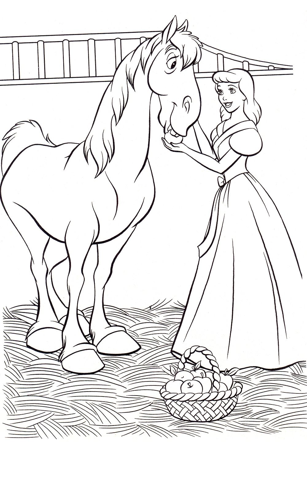 cinderella coloring pages wowcom image results - Cinderella Coloring Pages Kids