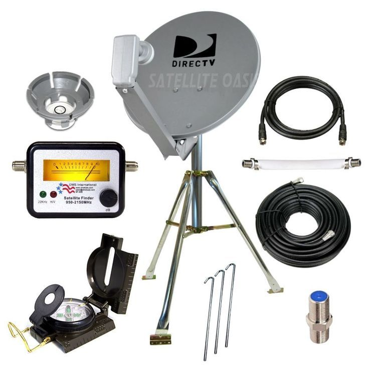 Directv Portable Satellite Dish Tripod Kit For Rv Tailgating Camping Satelliteoasis Satellite Dish Satellites Directv