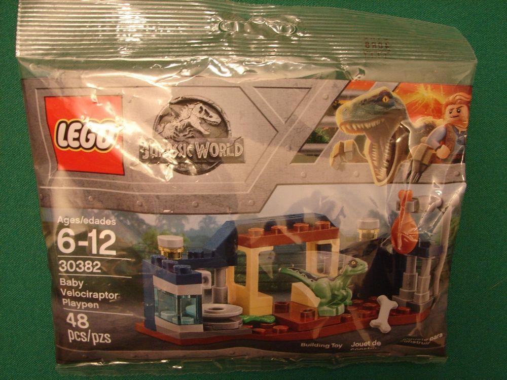 From 30382 Lego Jurassic World Dinosaur Dinosaure Velociraptor Figurine New