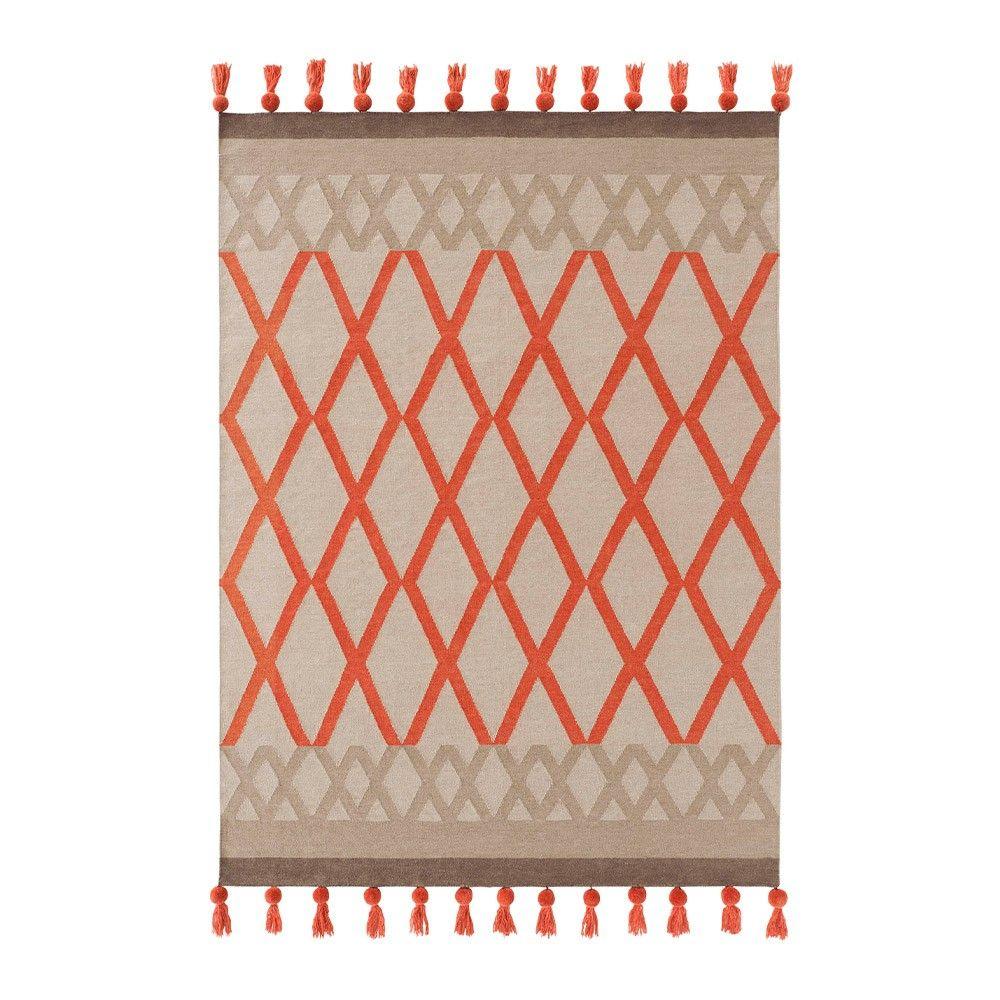 Burnt Orange Rug Gandia Blasco Kilim Sioux Coral Rug: Roll Out This Luxury  Wool Rug