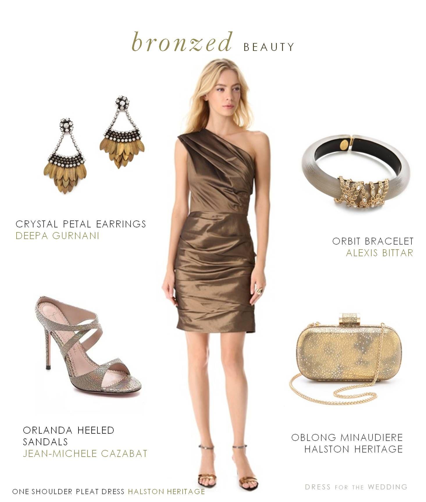 Bronze cocktail dress engagement dresses halston heritage and bronze cocktail dress ombrellifo Gallery