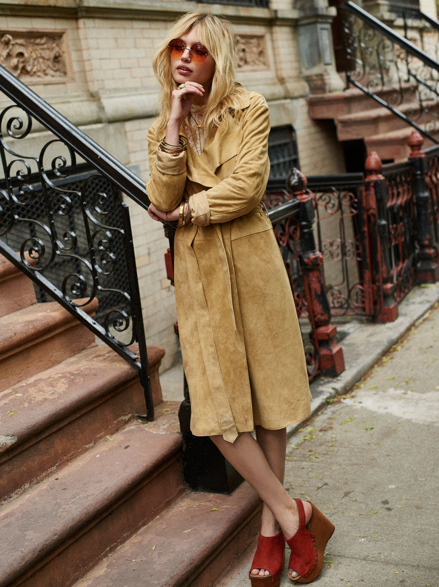Free People Suede Trench at Free People Clothing Boutique