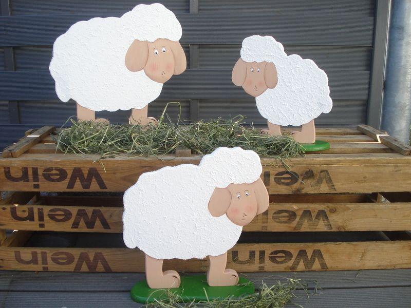 Niedliches Schaf von Heckel-Kreativ  auf DaWanda.com