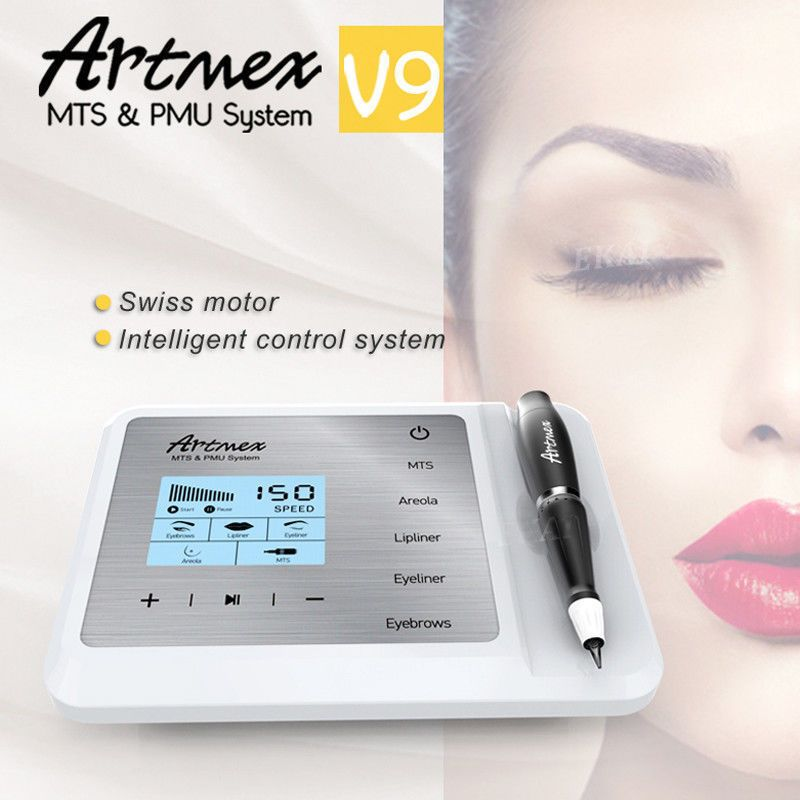 Mts Pmu System Artmex V9 Permanent Makeup Tattoo Pen Machine Eye Brow Lip Rotary Permanent Makeup Tattoo Pen Machine Tattoo Machine Kits