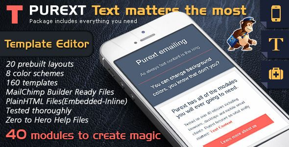Email Template Design To Send HTML Email Text Pure Text Newsletter - Free email template editor