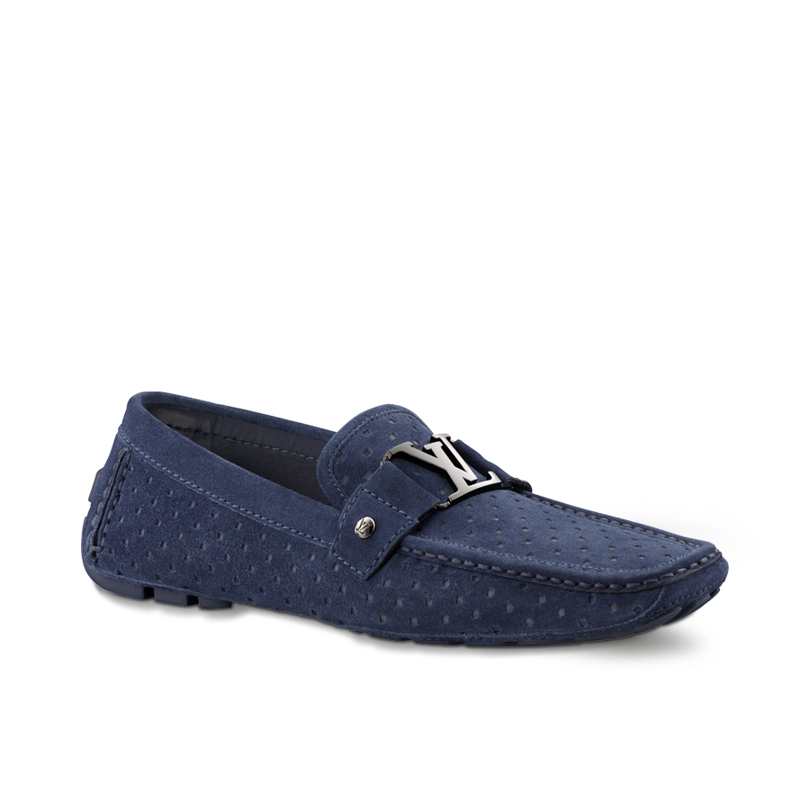 LV MONTE CARLO MOCCASIN IN PERFORATED SUEDE CALF Louis Vuitton's iconic  initials loafer features a hand. Mens Driving ShoesMonte ...