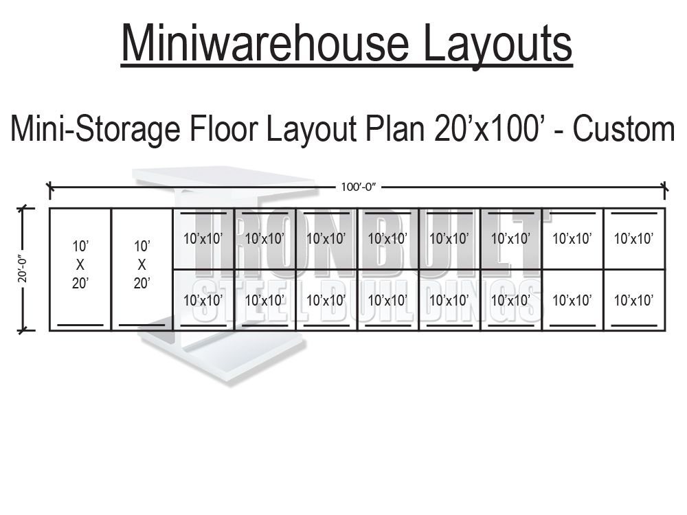 Self storage unit floor plans mini storage floor plan for Storage building floor plans