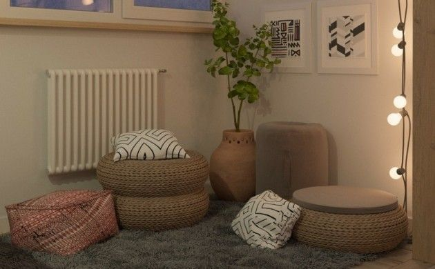 Kleine Wohnung Einrichten Ideen Sitzkissen Entspannungsecke Gestalten