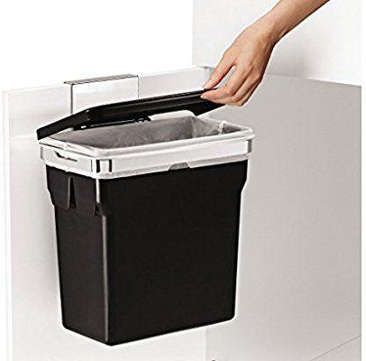 simplehuman Schrank-Abfalleimer 10 Liter, verchromter Stahlrahmen