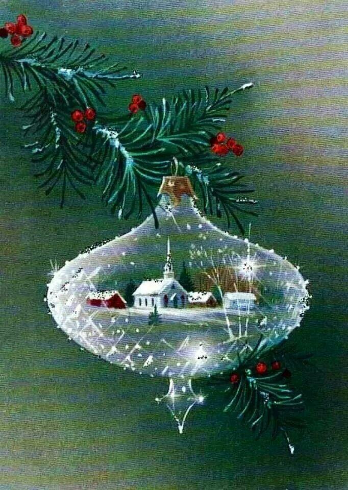 Vintage Christmas Card Trees-Decorations 436 | Vintage | Pinterest ...