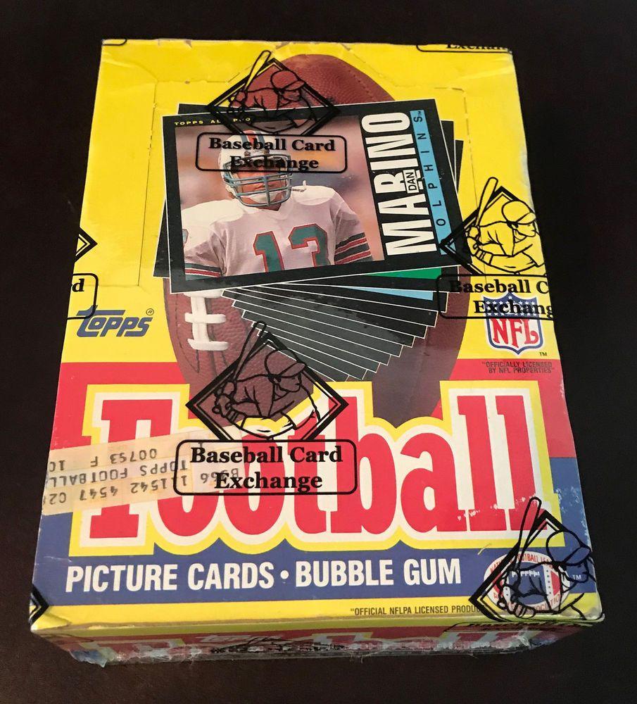 1985 topps football wax box 36 packs non xout bbce