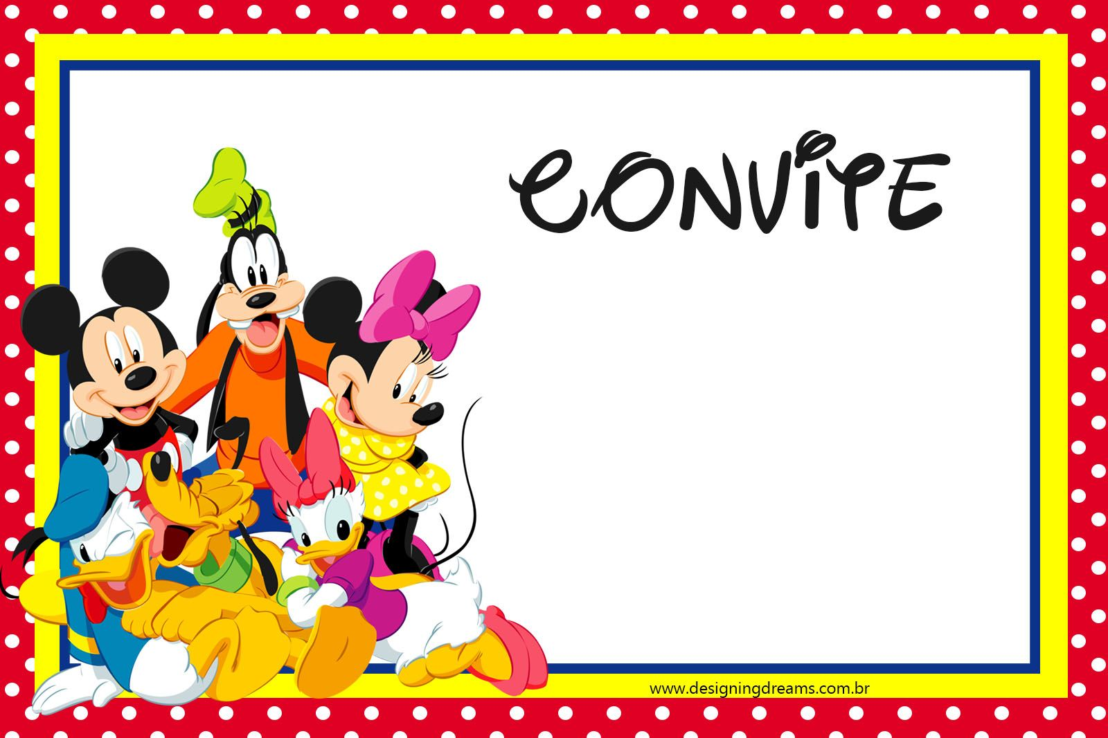 KIT FESTA PRONTA TURMA DO MICKEY GRÁTIS PARA BAIXAR | Layouts, Minnie mouse party and Mouse parties
