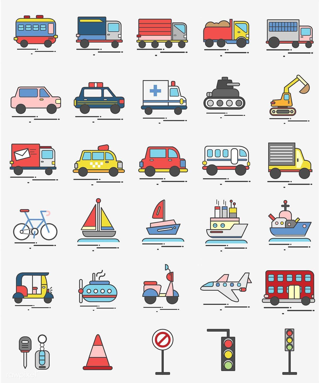 Download premium vector of illustration of transportation