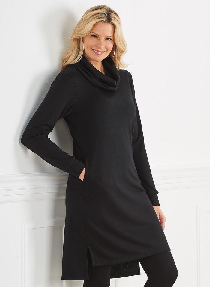 Cowl-Neck Knit Dress | Shopping, For women and Catalog