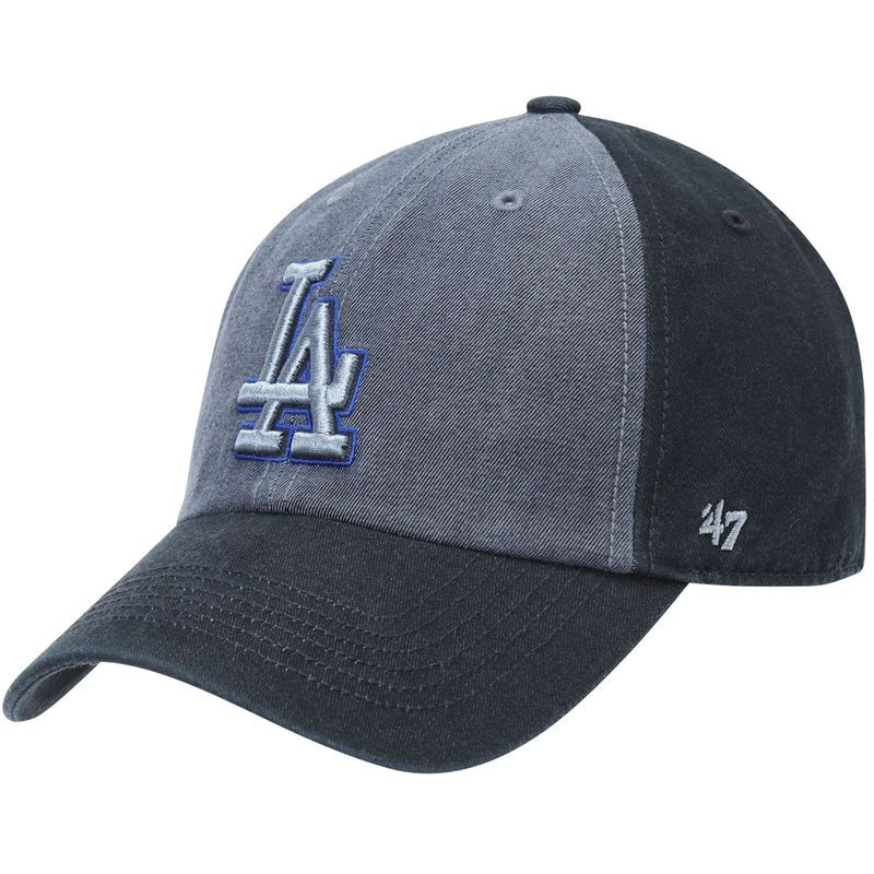 the best attitude da160 51684 Los Angeles Dodgers  47 Encoder Franchise Fitted Hat - Heathered Blue Navy