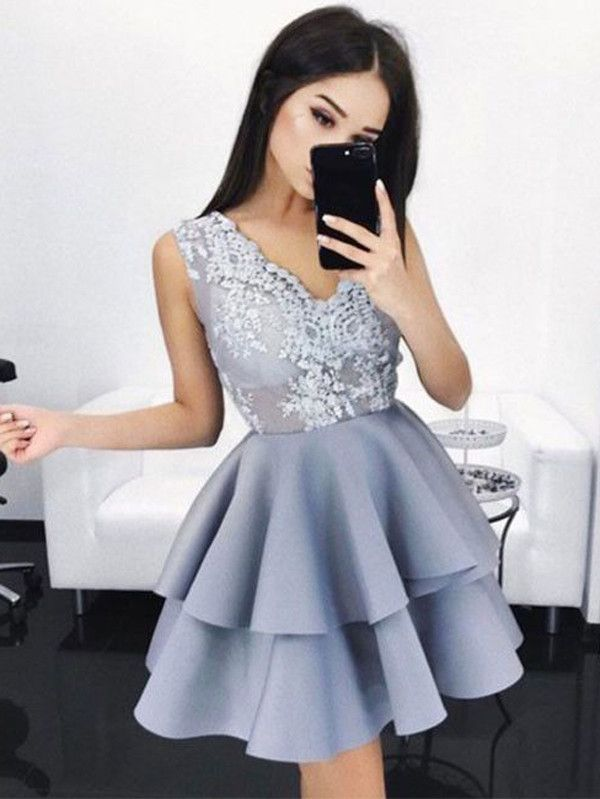 d248d53d6b A-line Homecoming Dress Short Prom Drsess Juniors Homecoming Dresses kmy134