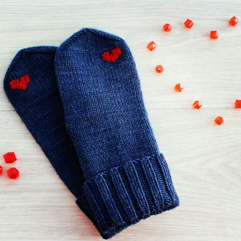 купить варежки с сердечками варежки ручной работы варежки женские