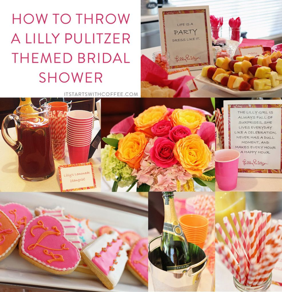How To Throw A Lilly Pulitzer Themed Bridal Shower - It Starts With ...