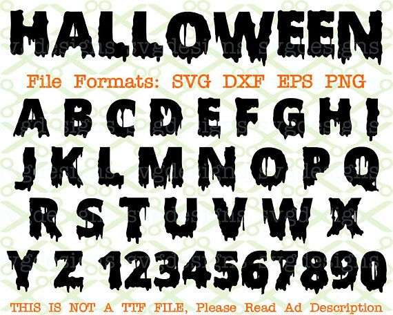 Halloween Monogram Svg Letters Numbers Svg Dxf Eps Png Etsy Halloween Monogram Monogram Letters Letters And Numbers
