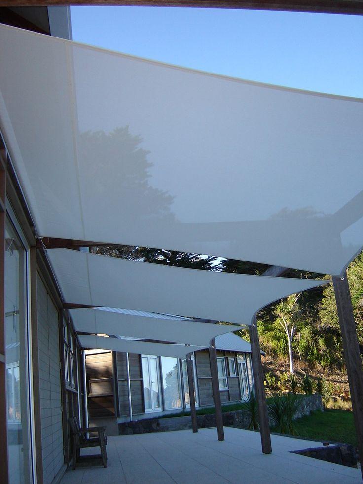 Resultado de imagen de toldos vela en cochera ideas para - Toldos para patios exteriores ...