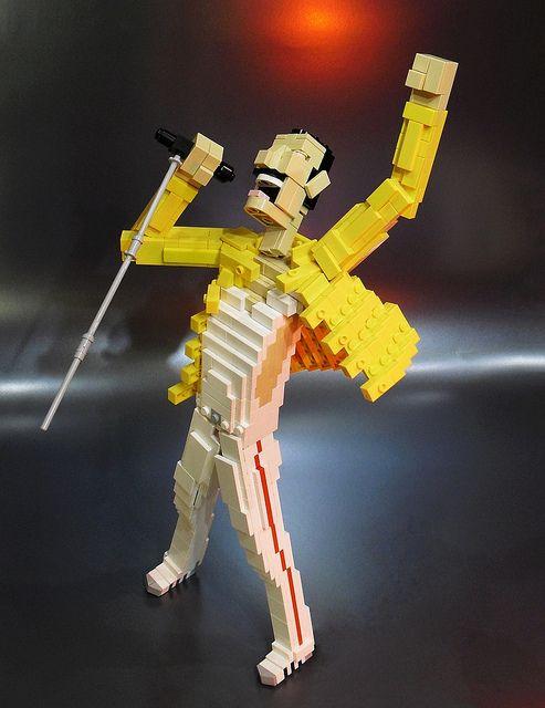 Freddie Mercury Lego creation by Ochre Jelly