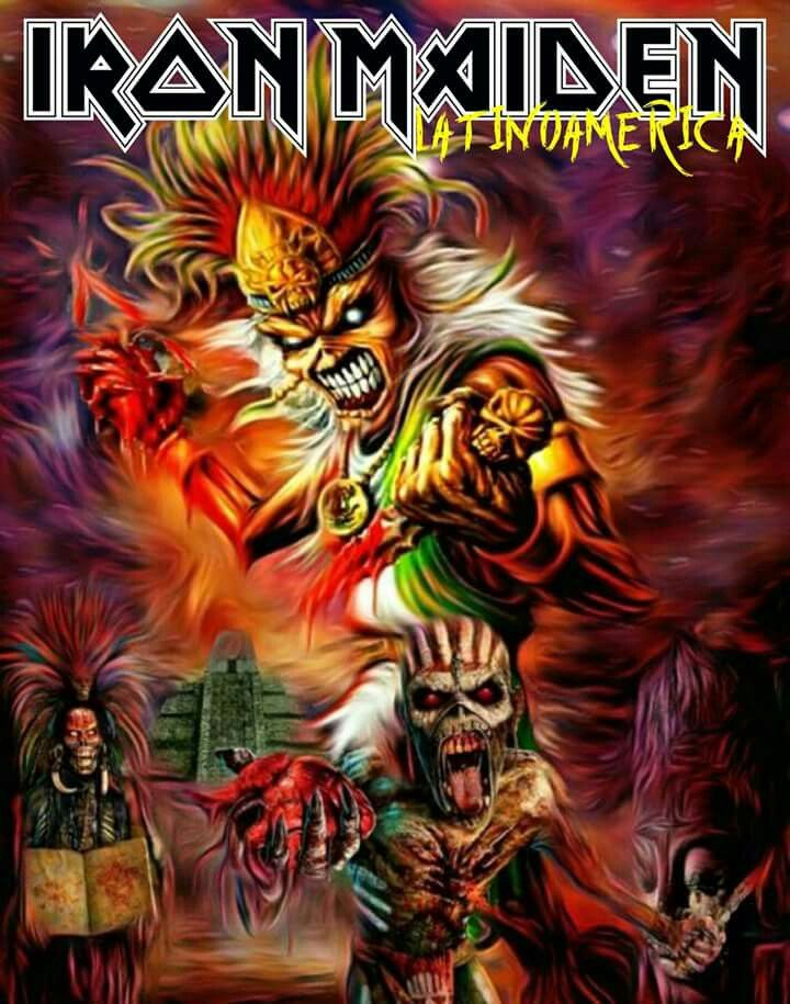 Iron Maiden - Latin America | Iron maiden eddie, Iron maiden ...