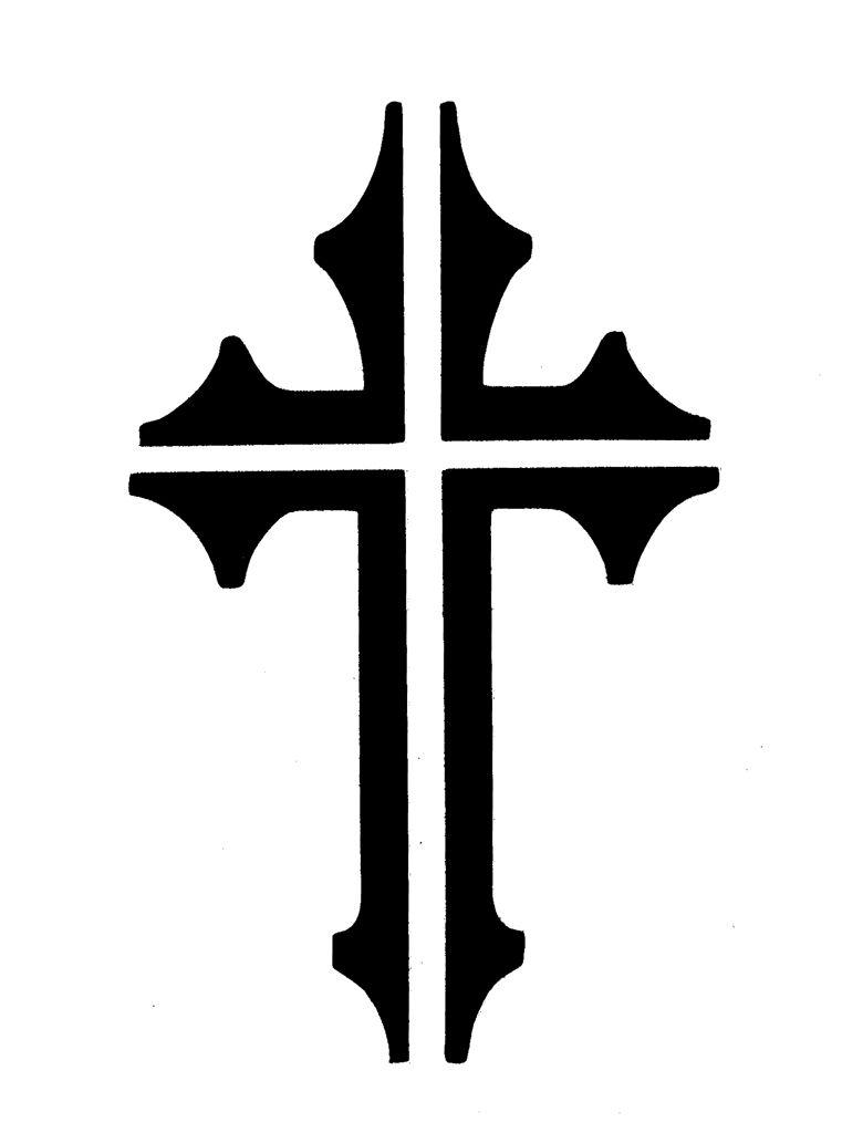 cross tattoo stencils 761 1024 the cross in patterns pinterest tattoo. Black Bedroom Furniture Sets. Home Design Ideas