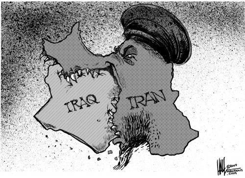 Risultati immagini per iran iraq cartoon