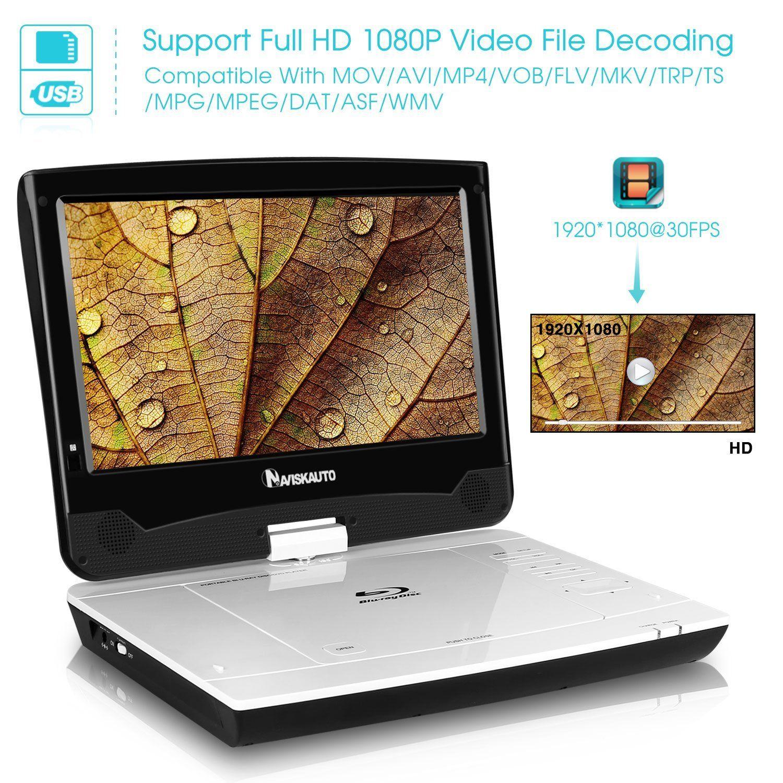 Naviskauto 10 1 Inch Full Hd Portable Blu Ray Dvd Player Review Dvd Player Blu Ray Dvd
