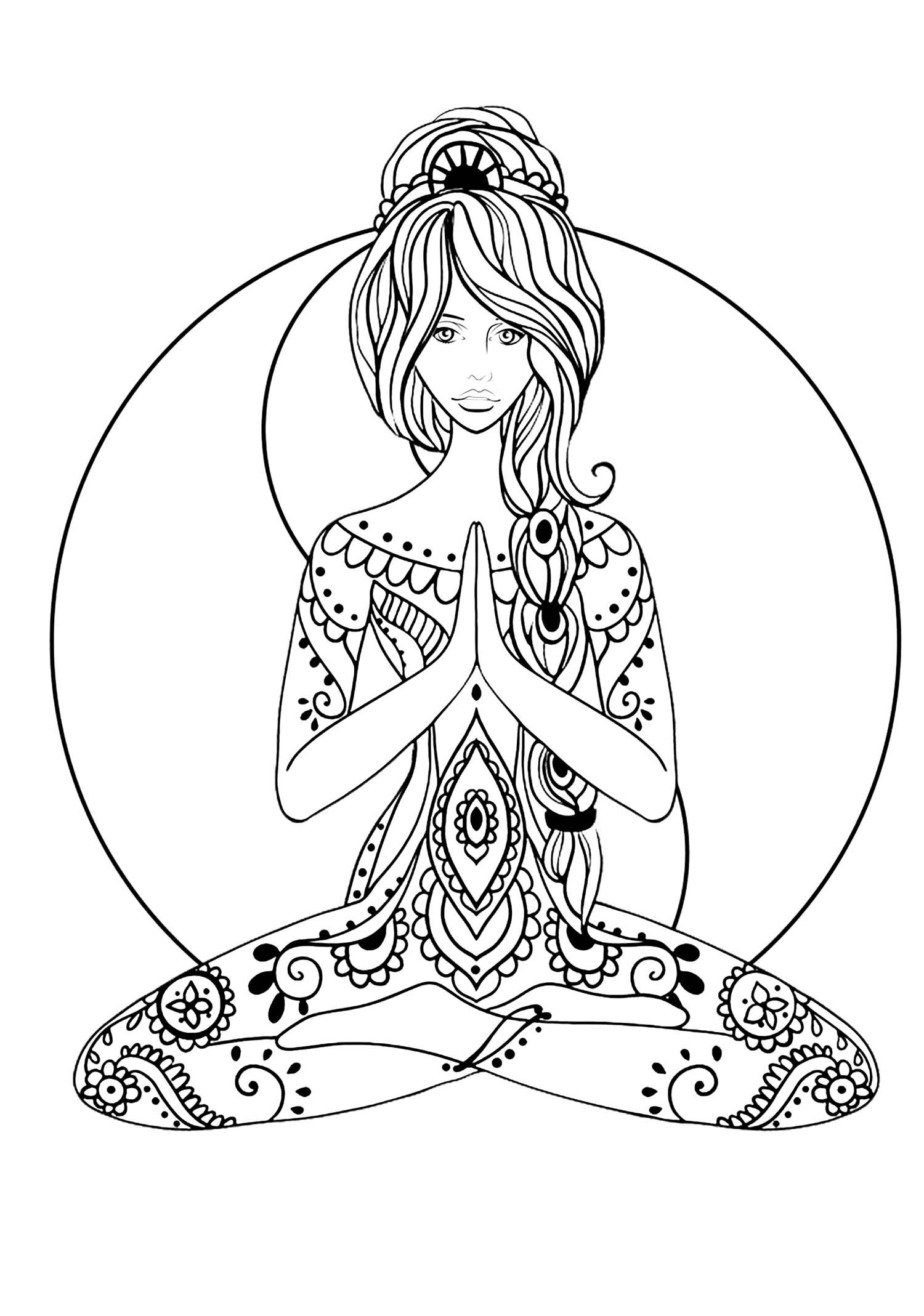 Yoga Zen And Anti Stress Coloring Pages For Adults Just Color