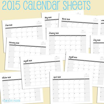 make 2015 calendars for family and friends with these free calendar sheets 2015 free printable calendar sheets