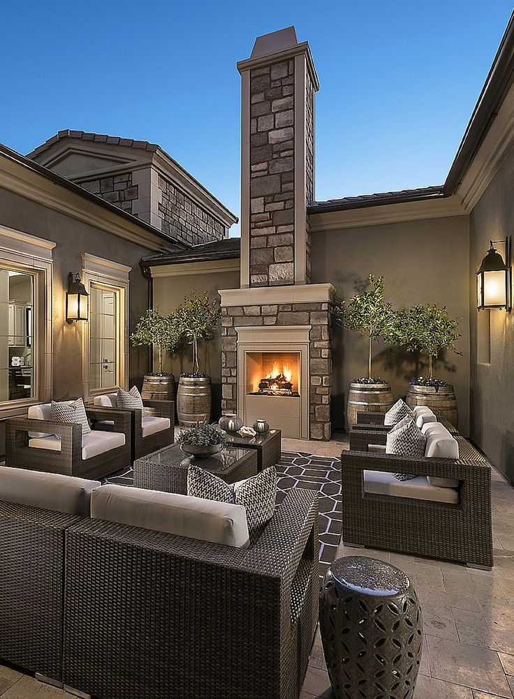Beautiful outdoor living space with Coronado Stone ... on Beautiful Outdoor Living Spaces id=11427