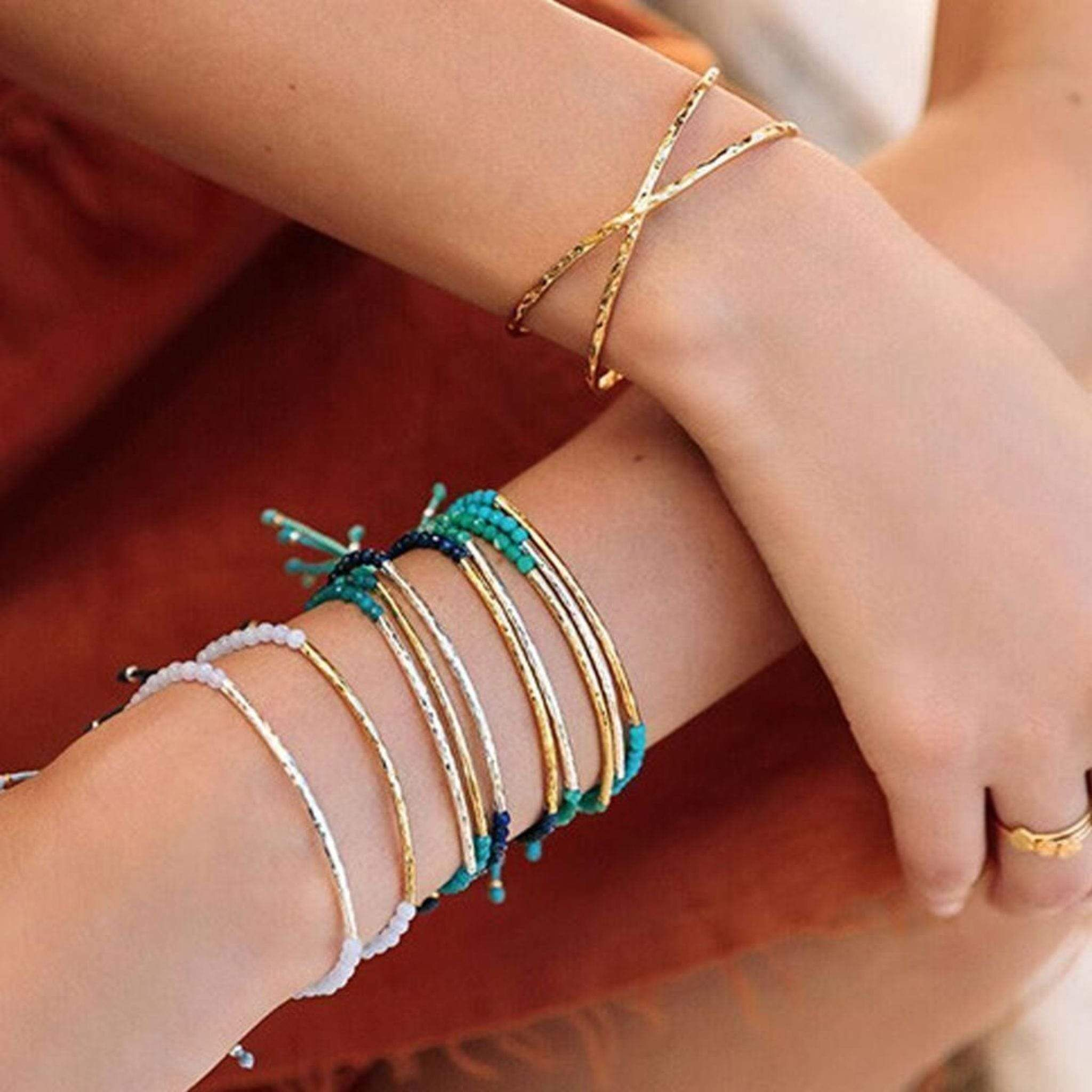Black agate woman bracelet gifts women/'s gift gold-plated minimalist bracelet