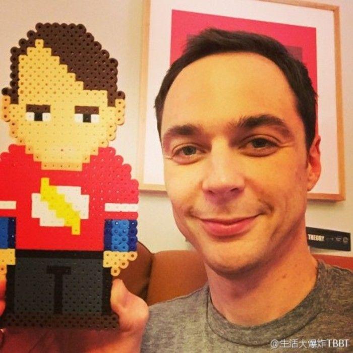 TBBT Sheldon perler beads