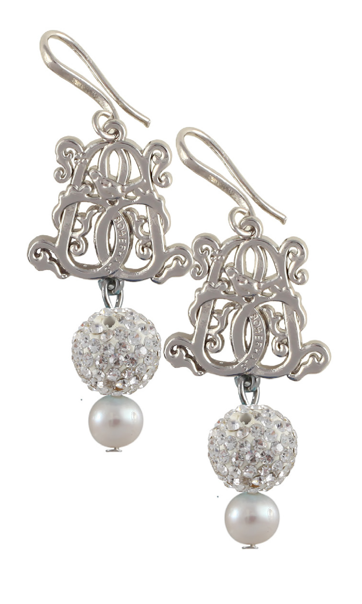 Tina Sparkle Earrings - Snow White | #designerearrings #designerjewellery #designerjewelry #jewellery #earrings #Duchess #fashion #designerfashion